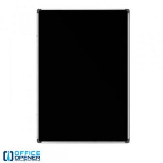 Меловая чёрная магнитная доска 90x60 см, настенная