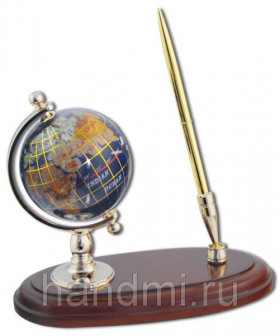 Глобус каменный на подставке с ручкой