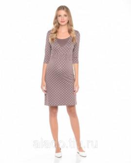 Платье для беременных и кормящих горохи Nuova Vita 210112