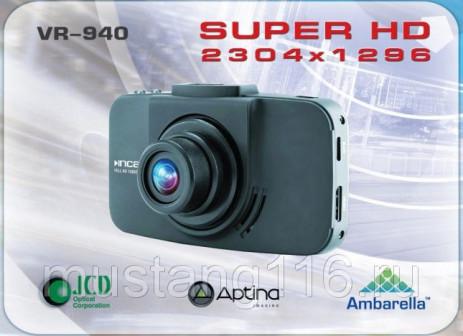 Видеорегистратор INCAR VR 940 Super Full HD 2304x1296, MP4