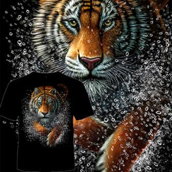 Футболка Тигр и брызги воды