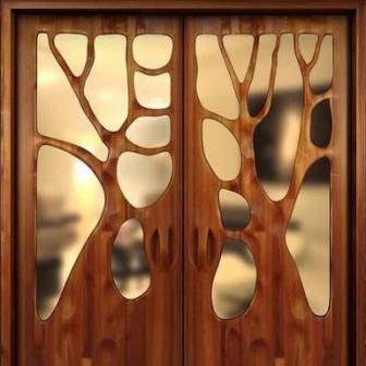 Деревянные декоративные вставки на дверь, накладки