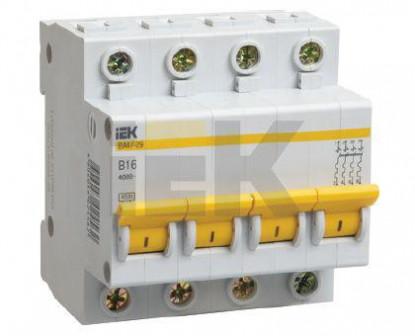 Выключатель автоматический 4 пол 20A C 4,5кА ВА47 29 IEK