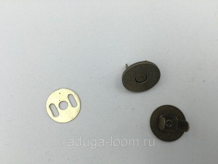 Кнопки магнитные металл(бронза) 18 мм