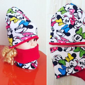 Комплект : шапка + снуд