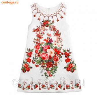 Платье нарядное белый, полуобхват груди 34 см
