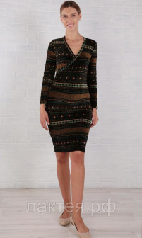 Платье для беременных и кормящих оранжевый Euromama ем 7008