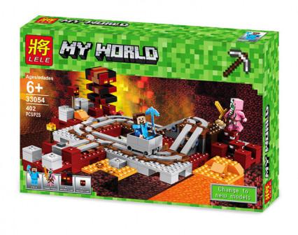 Конструктор Мой Мир «Подземная железная дорога» 402 дет 33054