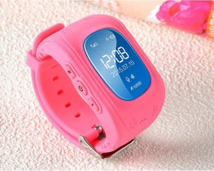 Детские часы GPS трекер Smart Baby Watch Q50   розовые