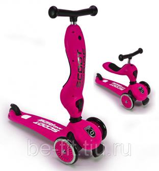 Самокат Scoot&Ride HighwayKick 1 Цвет Малиново Розовый