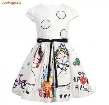 Платье нарядное белого цвета с поясом белый, полуобхват груди 35 см