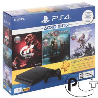 PS4 Slim 1TB + Horizon Zero Dawn Complete Edition + God of War + Gran Turismo Sport + Подписка 3 ме