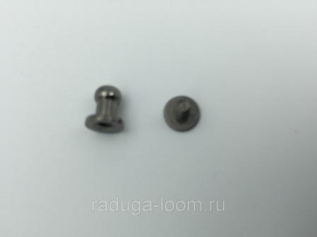 Заклепка резьбовая, кобурная 64 мм черная