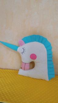 Подушка игрушка Единорог , бортик