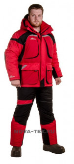 Зимний рыболовный костюм «Армада»  45 (Таслан, Красный) GRAYLING