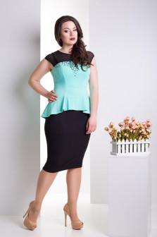 Костюм женский буза и юбка в 2х цветах LS Берта