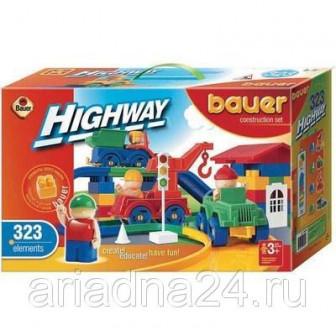 Конструктор Bauer серии Автодорога, 323 элемента