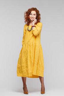 Платье бохо лён 428