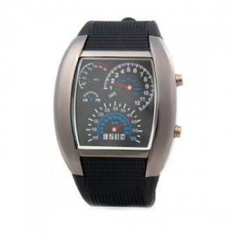 Часы Спидометр   популярные LED часы