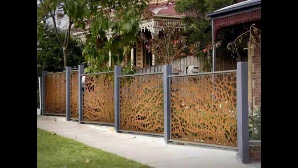 Декоративный забор из фанеры или дерева