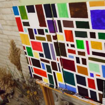 Модульная картина Пиксели