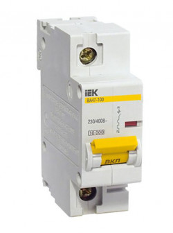 Выключатель автоматический 1 пол 25A C 10кА ВА47 100 IEK