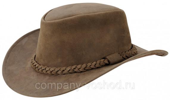 Стильная кожаная шляпа JahtiJakt