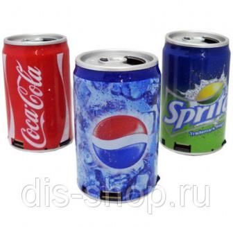 Портативная колонка в виде банки Колы, Пепси, Спрайта