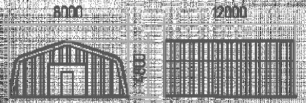 АНГАР прямостенный 8х12х4,8   НОВЫЙ