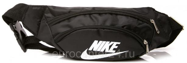 Чёрная сумка NIKE на пояс