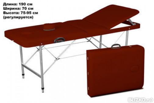 Массажный стол COMFORT LUX 190Р коричневый