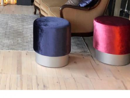 Пуф круглый, ткань велюр либо иное по желанию заказчика