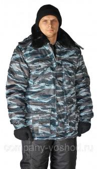 Куртка мужская Охрана зимняя кмф серый вихрь