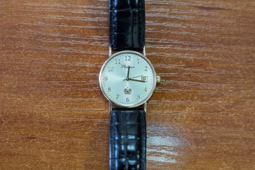 Золотые мужские часы PLATINOR