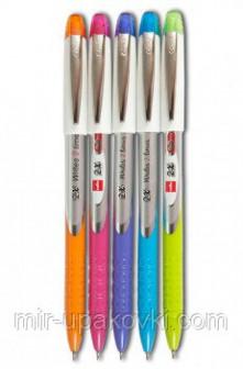Ручка шариковая синяя Cello 2X 0,7мм цвет корпуса ассорти, пластиковый стакан 1502000