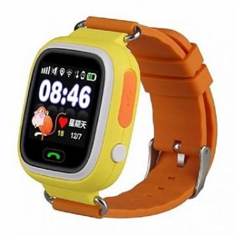 Smart Baby Watch Q80   умные детские часы с GPS, оранжевые