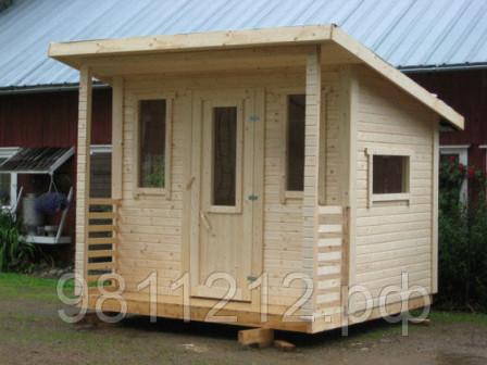 Хоз блок   домик с навесом, готовый дровник для сада и дачи