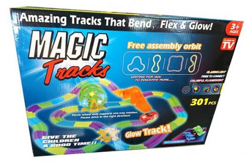 Светящаяся гибкая трасса Magic Track 301 деталь.