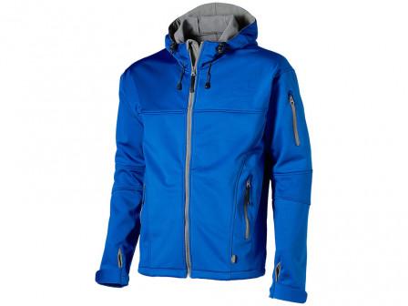 Куртка софтшел Match мужская, небесно синийсерый