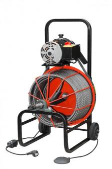 Прочистная машина усиленный трос барабанного типа К Про (электрическая)