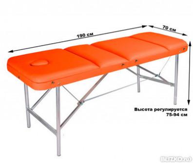 Массажный стол COMFORT ETALON 190Р оранжевый