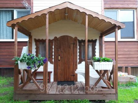 Деревянный детский игровой домик Гретель , Размер 2,0х2,5 м, S 5 кв м, для дачи, улицы,