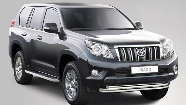 Защита переднего бампера d 76/60 double «Toyota Land Cruiser Prado 150»