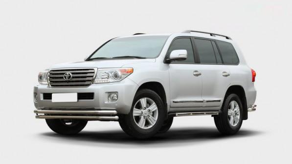 Защита переднего бампера Toyota Land Cruiser 200 со скидкой