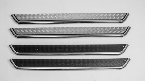 Выгода 3 250 руб. Нержавеющие пороги для Kia Sportage  с крепежом.