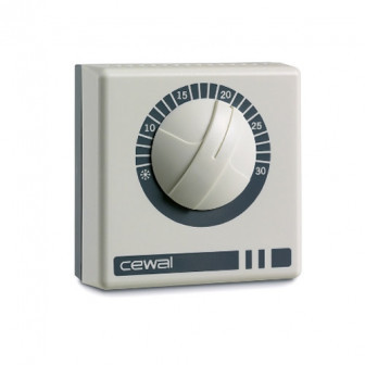 Терморегулятор комнатный накладной Cewal RQ-10 (Италия) за 900 руб