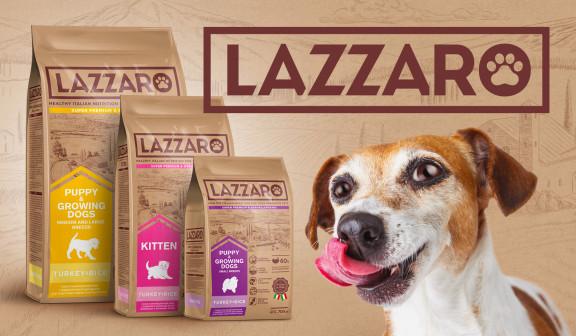 Дизайн упаковок для кормов для домашних питомцев LAZZARO от Style You