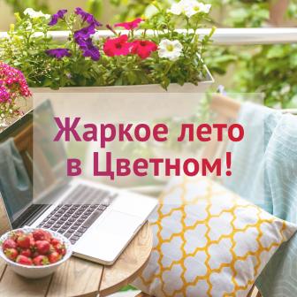 Жаркое лето в Цветном!