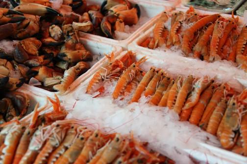 Где поесть креветки в Казани?