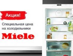 Специальные цены на холодильники Miele